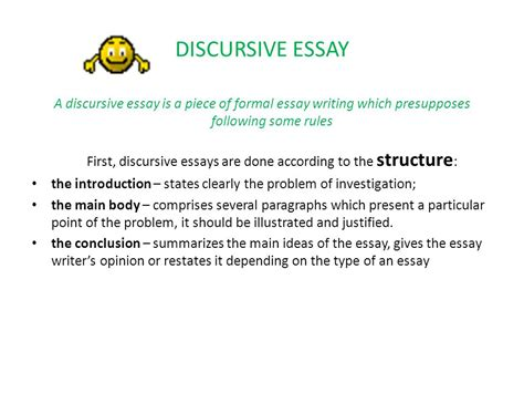 Discursive Essay Structure by Essay Writing Can Be Ppt