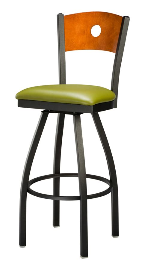 commercial metal bar stools regal seating 3316 hole back commercial metal swivel