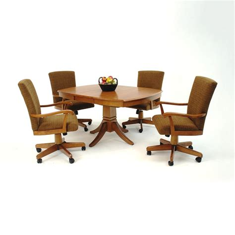 kitchen table chairs with casters kitchen tables and chairs with wheels marceladick
