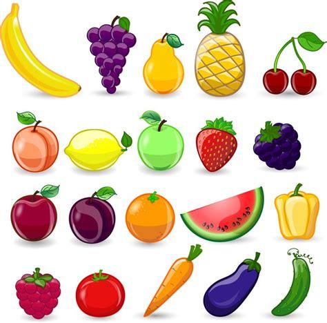 imagenes animadas de frutas y verduras vinilo frutas y verduras de dibujos animados fresa