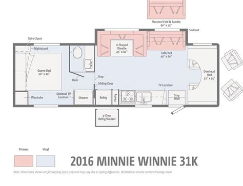 minnie winnie floor plans affinity rv service sales rentals rvs for sale