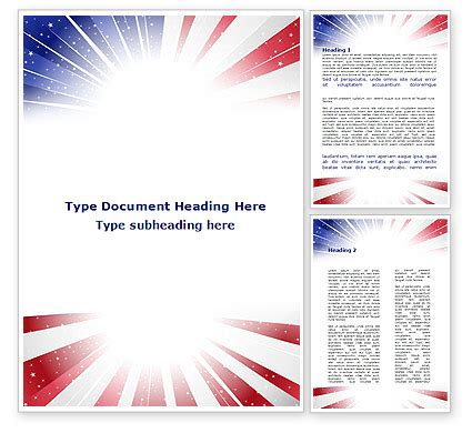 American Flag Stylized Word Template 09079 Poweredtemplate Com Free American Flag Flyer Template