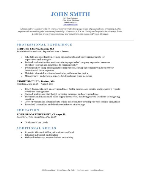 Resume Templated by Expert Preferred Resume Templates Resume Genius