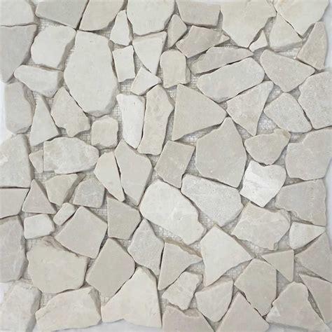 bottichino beige flat pebble mosaic