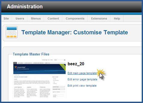 joomla template editor joomla edit page template
