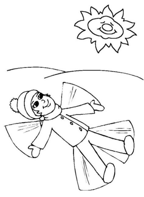 coloring pages of snow angels snowangel winter coloring page girls coloring pages