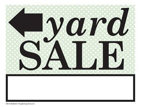 Printable Yard Sale Signs