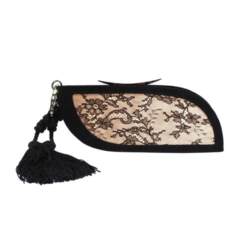 Vintage Lace Clutch From Again Nyc by Vintage Escada Lace Clutch With Tassel For Sale At 1stdibs