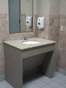 commercial bathroom vanities wheelchair accessible bathrooms in