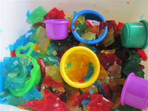 art desk for 6 year old rainbow gelatin sensory tub no time for flash cards