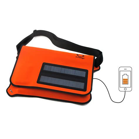 Picard Solar Bag Puts A Solar In A Leather Glove by Flat Solar Messenger Bag Orange O Range Touch Of Modern