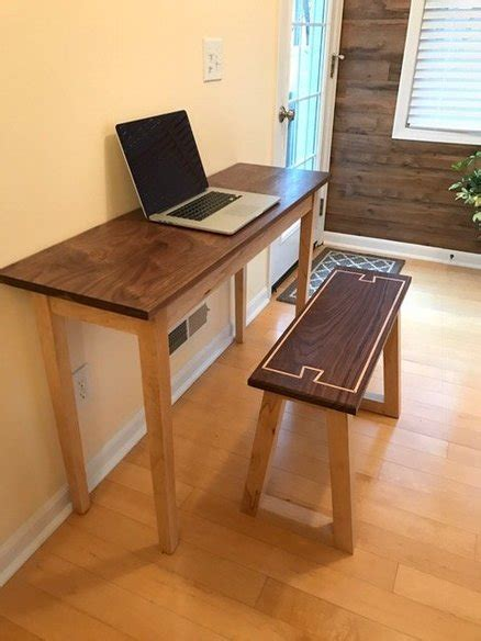 small desk for laptop small laptop desk dovetail bench by zacprunty