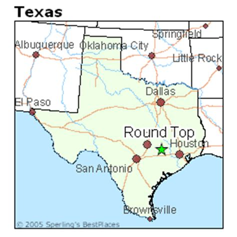 roundtop texas map best places to live in top texas