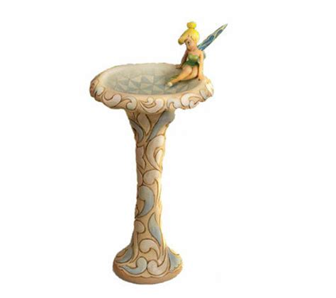 tinkerbell bathroom jim shore disney traditions tinkerbell bird bath page 1 qvc com
