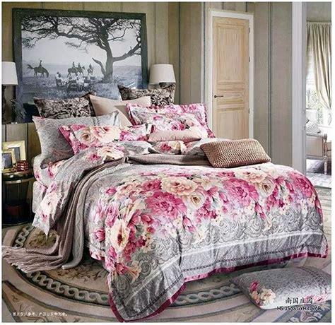 Vintage Floral Bedding Sets Luxury Brand Cotton Bedding Set Sheets Vintage Floral King Size Quilt Duvet Cover