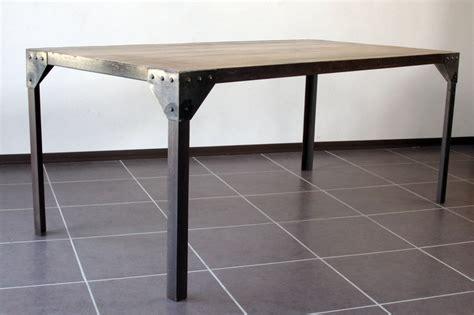 Plateau De Table En Bois 3516 by Table 224 Manger Industrielle Acier Et Bois 160x90