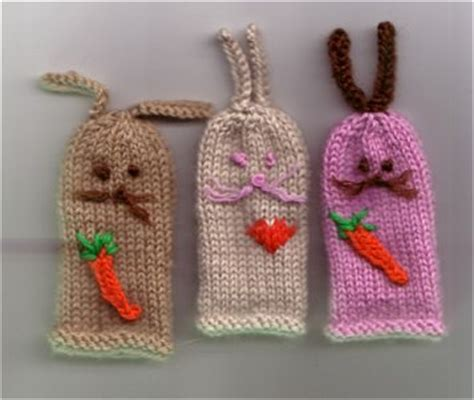 free knitting patterns finger puppets rabbits finger puppets