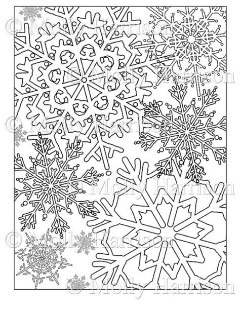 printable winter snowflakes christmas online coloring pages snowflake coloring pages