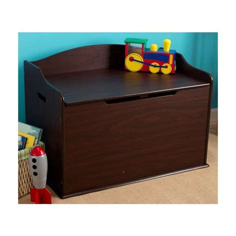 espresso toy chest bench kidkraft austin wood toy box chest bench espresso 14956
