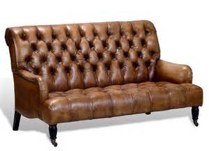 Tufted Brown Leather Sofa by Artsome English Vintage Style Antique Brown Tufted Leather