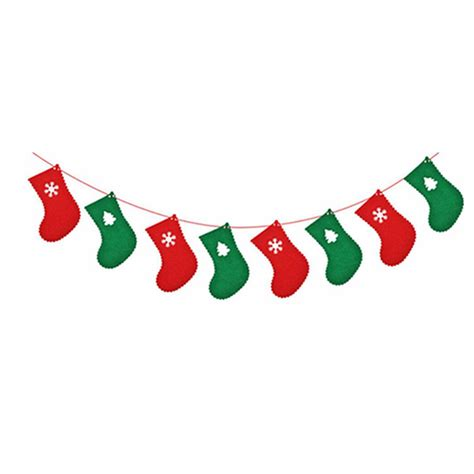 Banner Flag Natal Bunting Flag Merry Murah bunting banner wall tree hanging