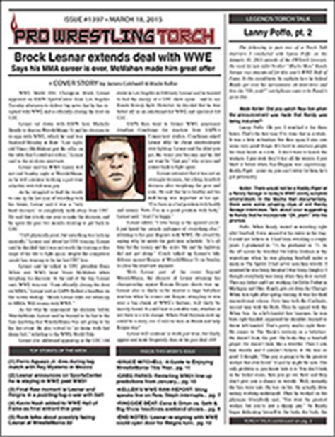 A Torch Against The Bonus Bookmark pwtorch vip pwtorch newsletter 1397 pdf text lesnar announces he s staying in