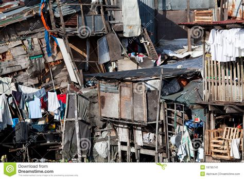 1 Level House Plans shanty squatter housing in asia stock image image