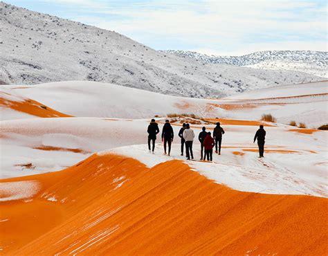 snow in desert sahara desert covered in snow pictures show ain sefra