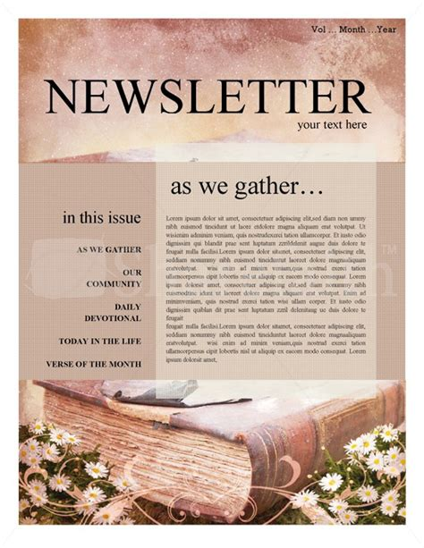 free sample newsletter templates word publisher templates