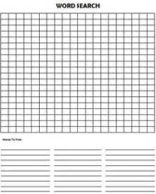 Empty Word Search Grid Template by 6 Best Images Of Blank Vocabulary Word Searches Printable