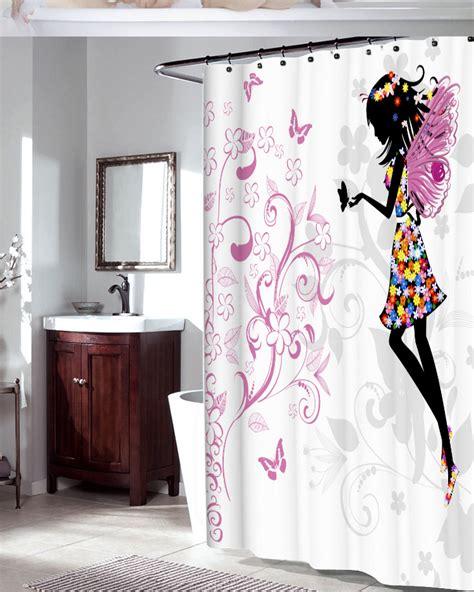 fairy bathroom decor flower fairy waterproof bathroom shower curtain bath decor