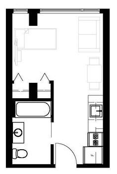 studio apartments floor plan 300 square feet location efficiency ideas on pinterest studio apartment layout