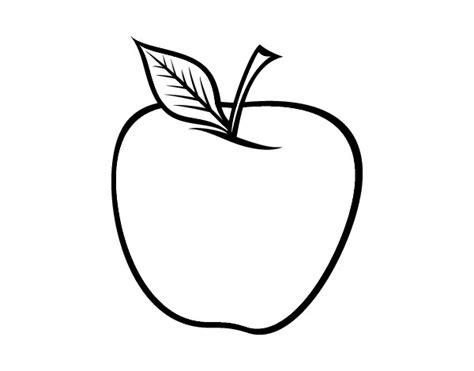 imagenes para colorear manzana imagenes de una manzana para colorear imagui