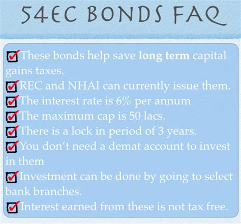 capital gains tax bonds and section 54ec invest in section 54ec bonds to save capital gains tax
