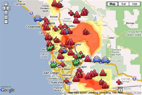 southern california wildfires map map california wildfires