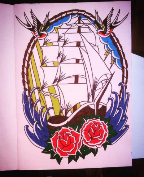tattoo old school boat dougy tattoo old school boat