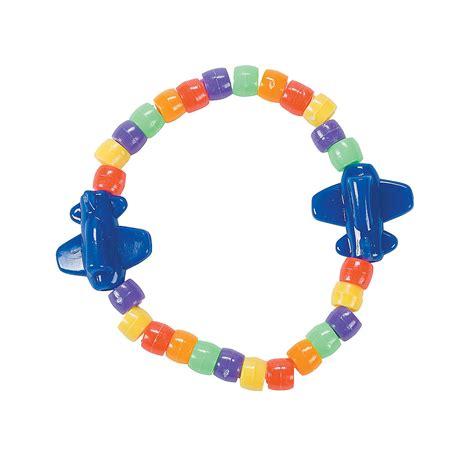 pony bead bracelet airplane pony bead bracelet craft kit trading