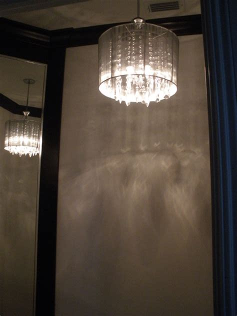 powder room lighting venitian plaster in powder room pendant light in bathroom
