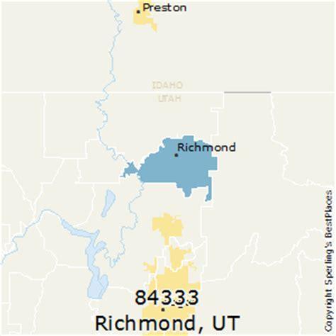 zip code map ut best places to live in richmond zip 84333 utah