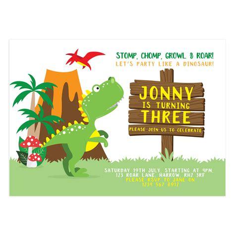 Dinosaur Birthday Card Template by Like A Dinosaur Birthday Invitation Templates