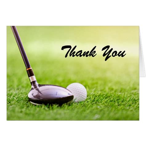 Golf Thank You Card Template by Thank You Note Card Golf Birthday Zazzle
