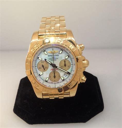 breitling chronomat 41 18k gold mens click