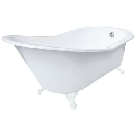 7 foot bathtub elizabethan classics 5 ft 7 in grand slipper cast iron