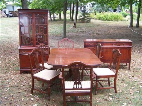 1940s dining room furniture 74 1940 s dining room set tables 6 chairs buffet hutc