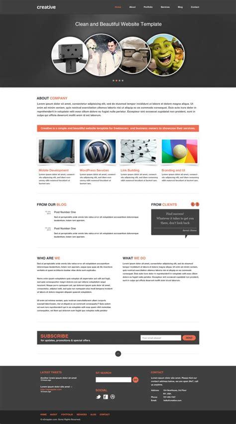 30 Free Psd Website Templates Creatives Wall Iphone Web Design Template