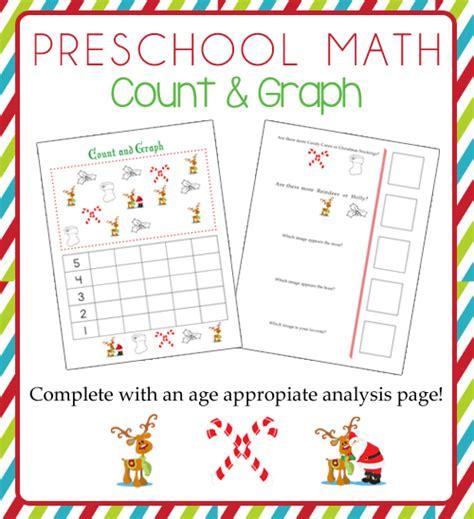 printable christmas graphs preschool math count and graph christmas themed 187 one