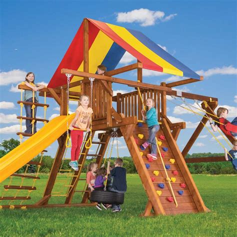 Rainbow Swing Sets by Rainbow Castles Swing Sets Rainbow Play Systems