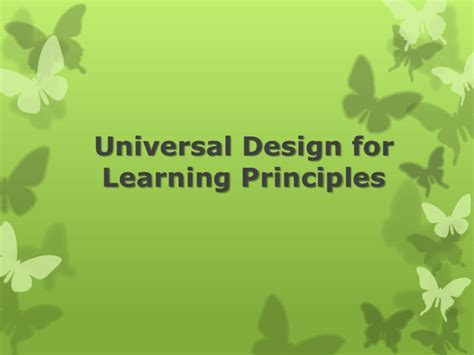universal design font size universal design for learning