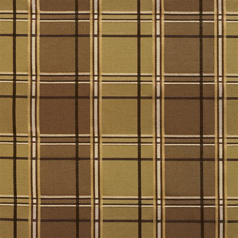 plaid automotive upholstery fabric brown and gold plaid woven damask upholstery fabric