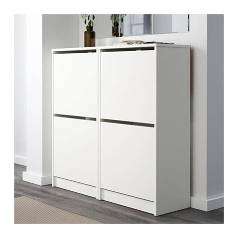 white shoe cabinet bissa shoe cabinet with 2 compartments white 49x93 cm ikea